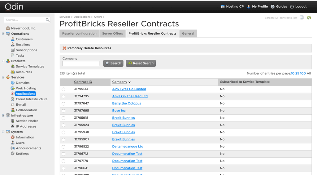 ProfitBricks Reseller Contracts