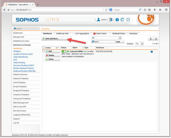 Install and Configure Sophos UTM | IONOS DevOps Central