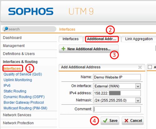 Publish Websites with Sophos UTM Webserver Protection